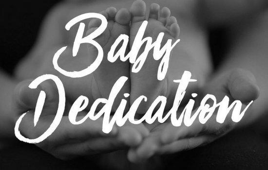 Baby Dedication April 18