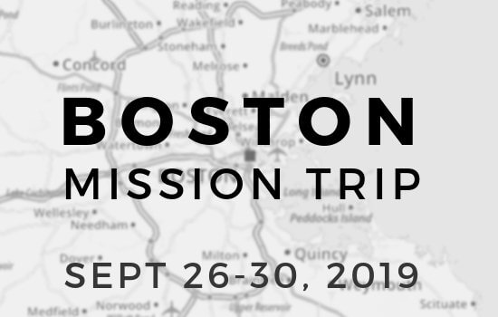 Boston Mission Trip Info Meeting March 3
