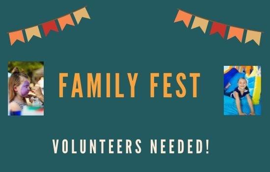 Volunteer for Family Fest October 26