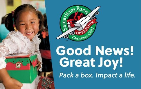 Operation Christmas Child Opportunity