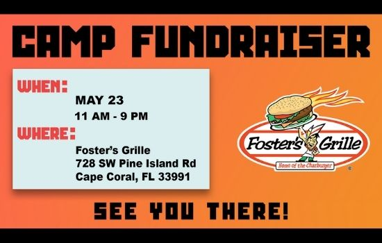 Camp Fundraiser at Foster's Grille May 23